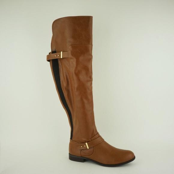 0c3dd06cd3a Bar III Shoes - Bar III Women s Daphne Over Knee Boots Banana